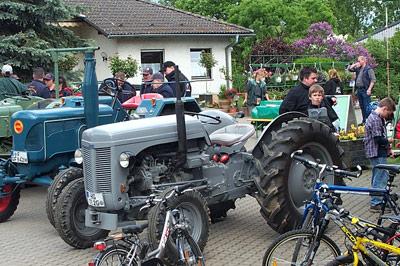 Spaß auf den Traktoren